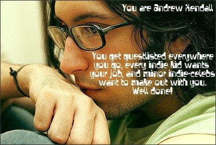 Andrew Kendall! Your glasses have MAGIC POWERS!